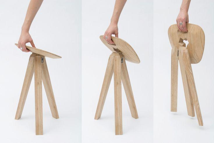 Folding Stool - Tabouret pliant signé Jack Smith // ©Jack Smith