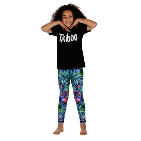 Tikiboo Kids Tropical Flower Leggings #Activewear #Gymwear #FitnessLeggings #Leggings #Tikiboo #Running #Yoga
