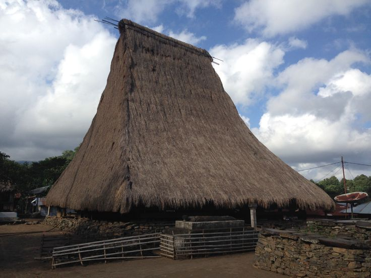 House of the head of the village in Jopu village, Flores