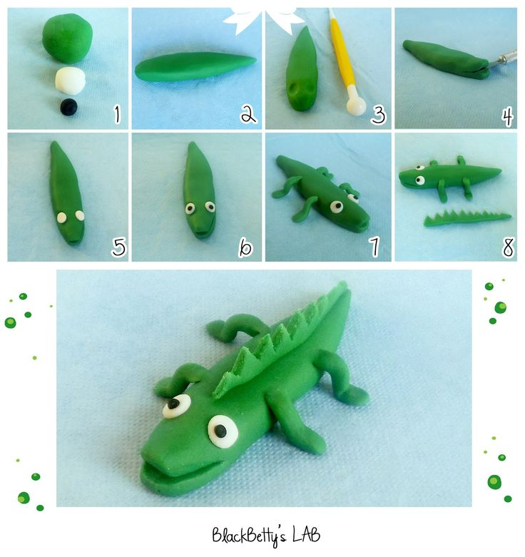 Sugar paste tutorial crocodile - tutorial coccodrillo in pasta di zucchero