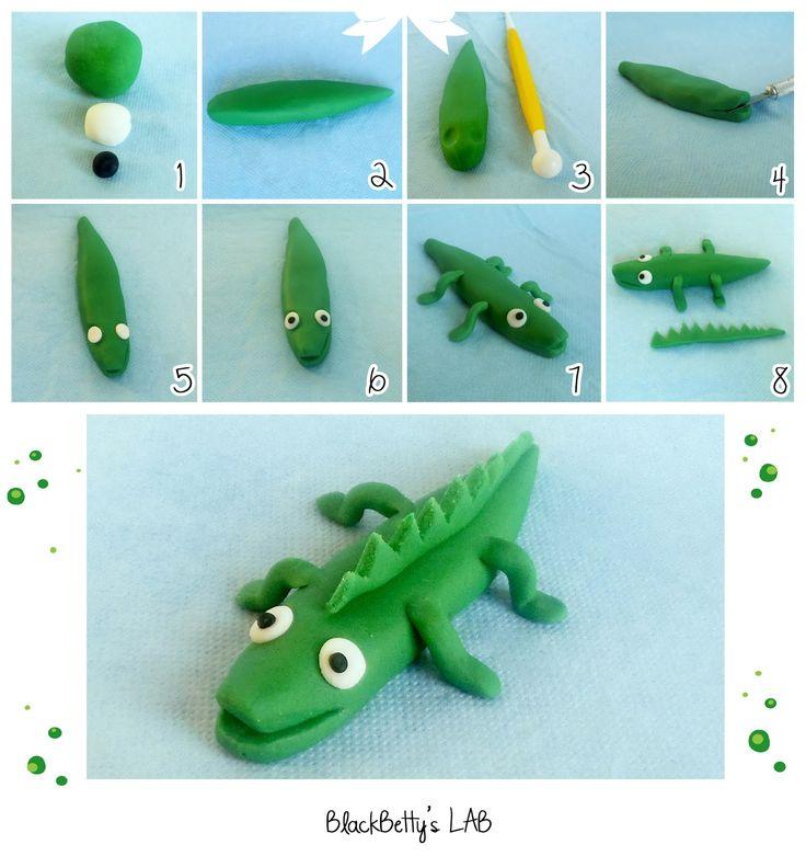 Sugar paste tutorial crocodile - tutorial coccodrillo in pasta di zucchero