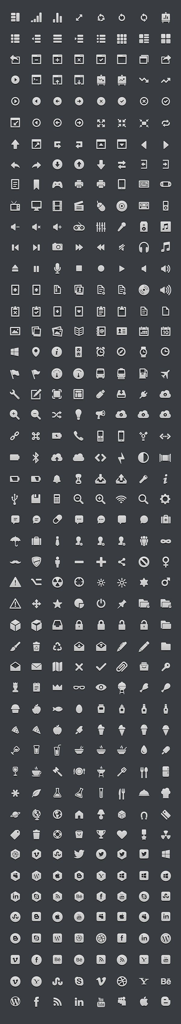 Free 364 High-res 3D Icon Set