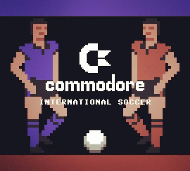 WEBSTA @favoritevideogamessince71 International Soccer (1983 Commodore 64 By Andrew Spencer). International Soccer is a soccer videogame for Commodore 64. It can be played by two players or one player against an AI opponent. Each team can select one of a number of colored shirts, and the AI opponent is graded into 9 different difficulty levels. The game itself is a relatively simple game of football - there is no offside rule and no possibility to foul opponents.