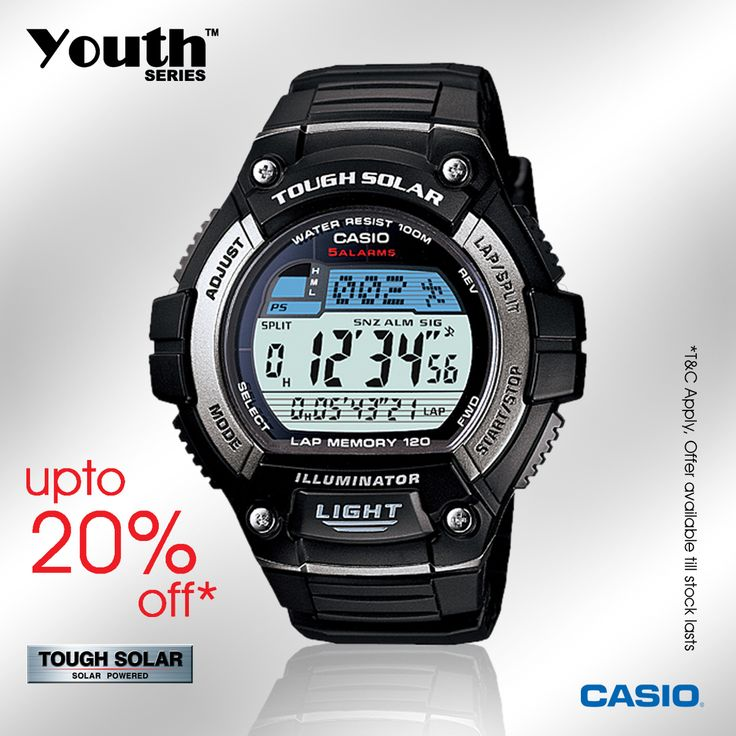 Upto 20% off on ‪#‎Casio‬ Youth Collection!!