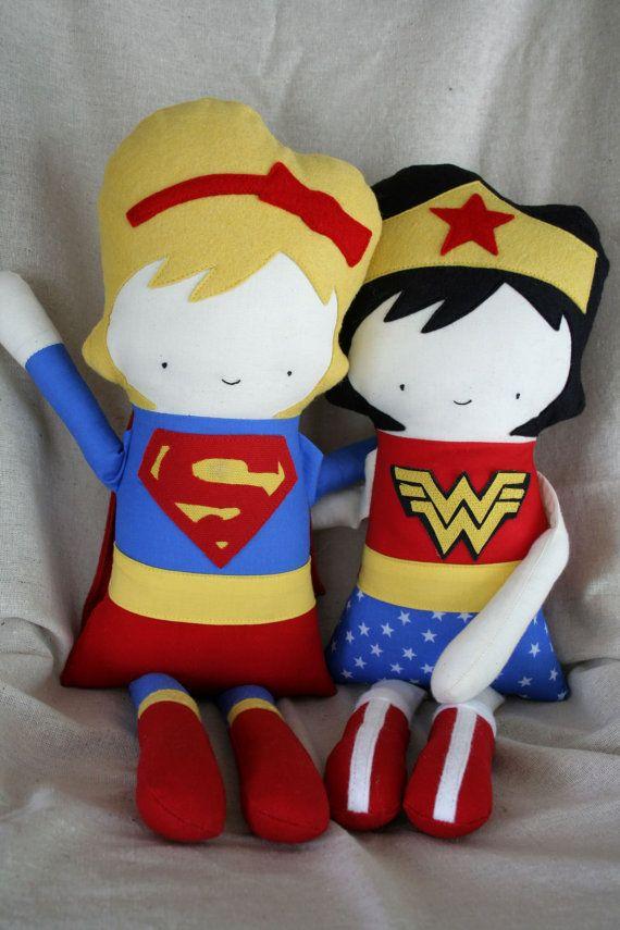 Superhero  Children Toy Doll Stuffed Doll Rag Doll by OhSewCuteByMel