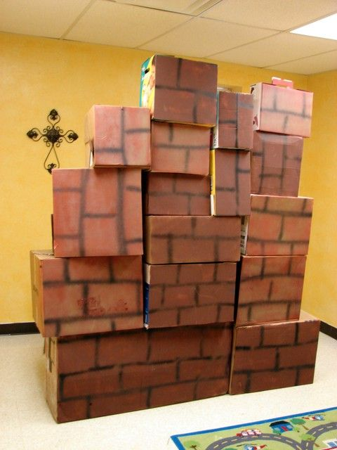 Wall of jericho craft google search joshua and the for Joshua crafts for sunday school