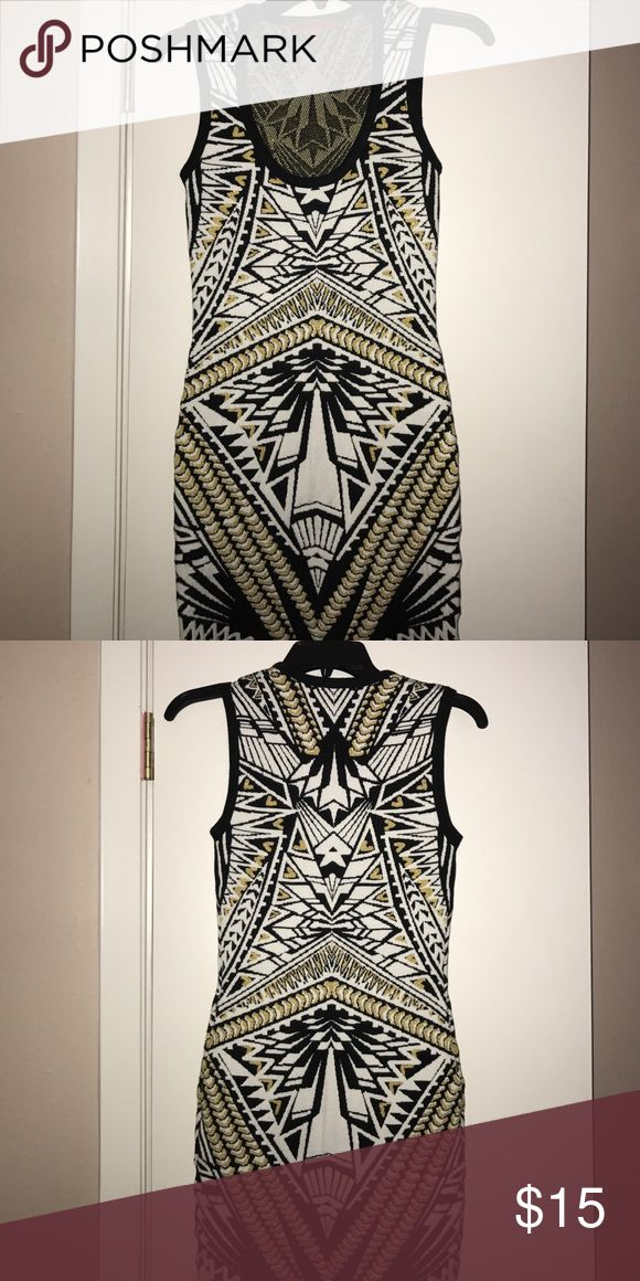 Size S Dress Selling a beautiful Aztec design dress in size Small ! It is 19% spandex but it is very flattering and does not cling to parts of your body you might feel self conscious about ! Perfect for an event , birthday ,  and going out ! Dresses Mini