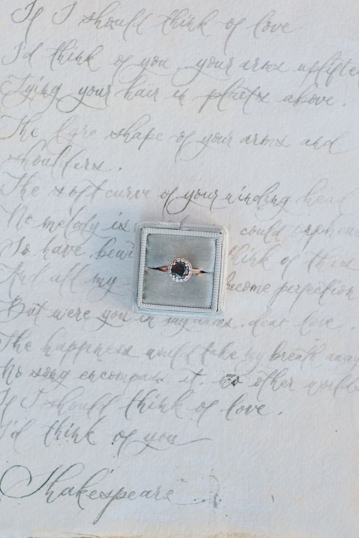 nice Bague de Fiançailles - Tendance 2017/2018  : Unique teal diamond engagement ring: Photography : Lilly Red Creative  Read More...