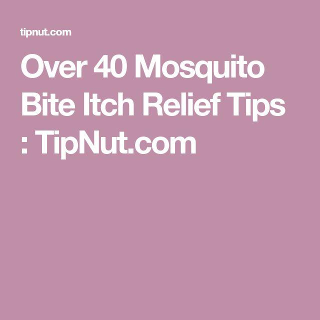 Over 40 Mosquito Bite Itch Relief Tips : TipNut.com