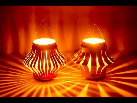 How To Make A Colorful Diwali Lantern | DIY Diwali Lantern - Craft Basket. - YouTube