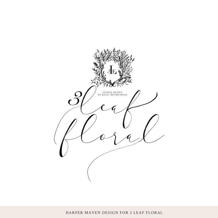 3 Leaf Floral Logo Concept by Harper Maven Design | www.harpermavendesign.com