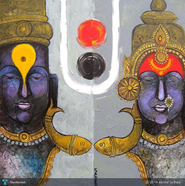 Vitthal-018 in Painting by Sardar Jadhav