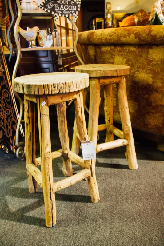 A Cabin Is Incomplete Without Worn Wooden Bar Stools. With These In The  Home, · Consignment FurnitureWooden ...