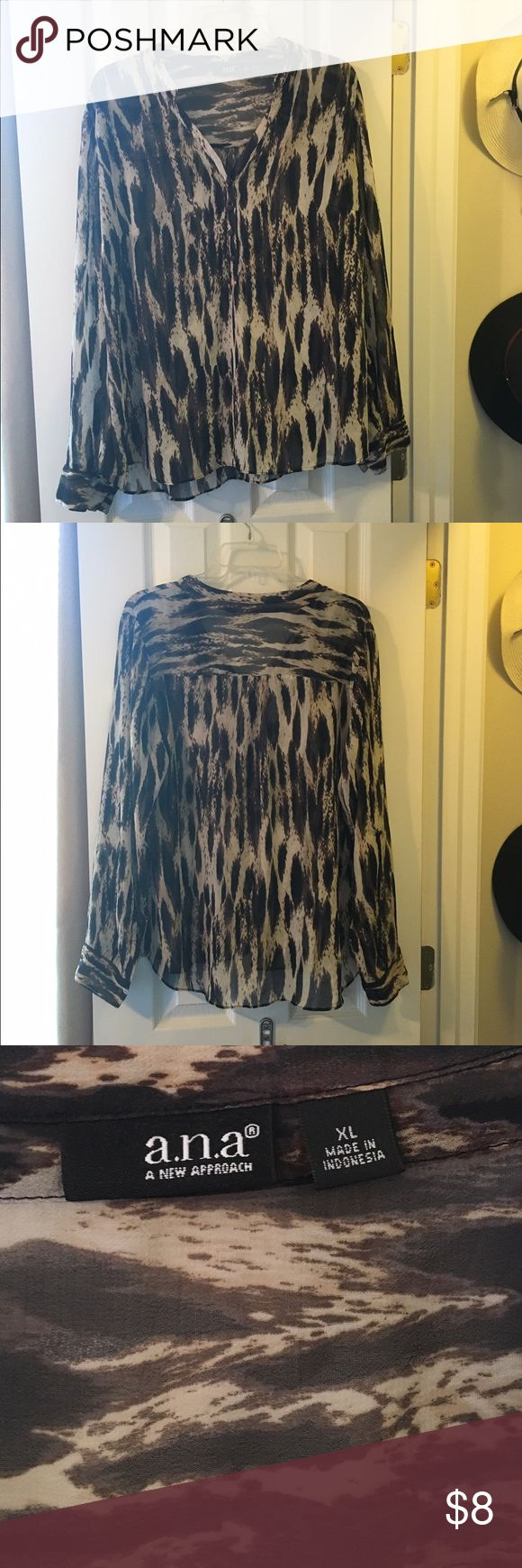 Animal print blouse Worn only a few times. Perfect condition. a.n.a Tops Blouses