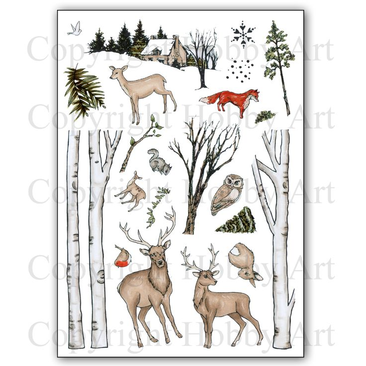Christmas has arrived at Hobby Art! CS138D 'Nature Trail' A5 Clear set contains 22 stamps. Designed by Sharon Bennett. Overall size of set - All our clear stamps are made with photopolymer resin. This set is perfect for scene building and great to use all year round. Overall size of set - 235mm x 155mm approx. All our clear stamps are made with photopolymer resin.