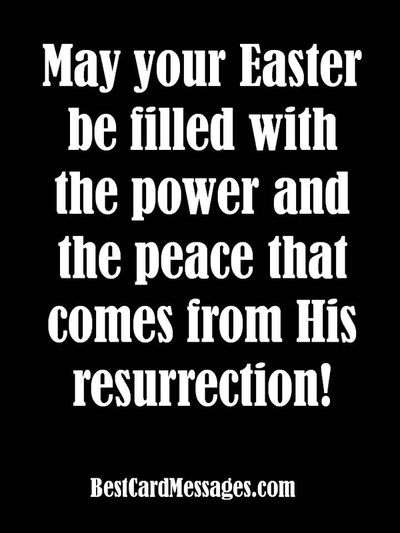 Christian Easter card wishes, messages and quotes