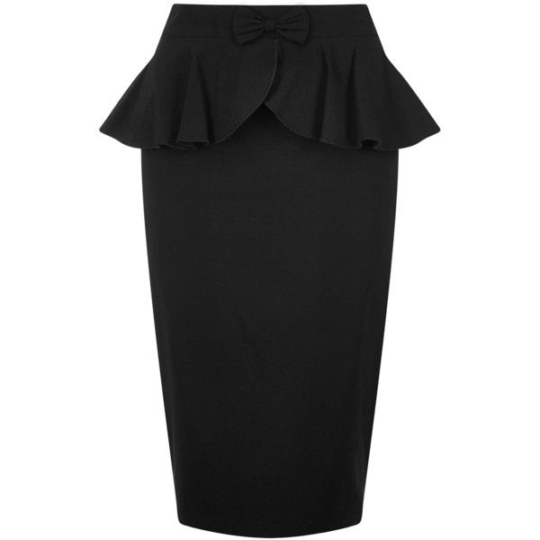 Collectif Mainline Pepper Peplum Skirt (420 RUB) ❤ liked on Polyvore featuring skirts, peplum skirts, vintage style skirts, rockabilly skirt and collectif