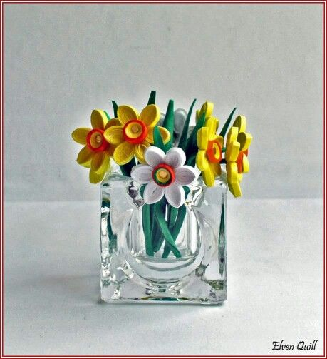 Daffodils - quilling by Elven Quill www.facebook.com/elven.quill