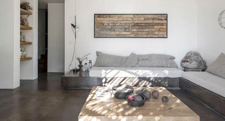 Casa de campo en puglia de luca zanaroli salas living - Interior de casas de campo ...