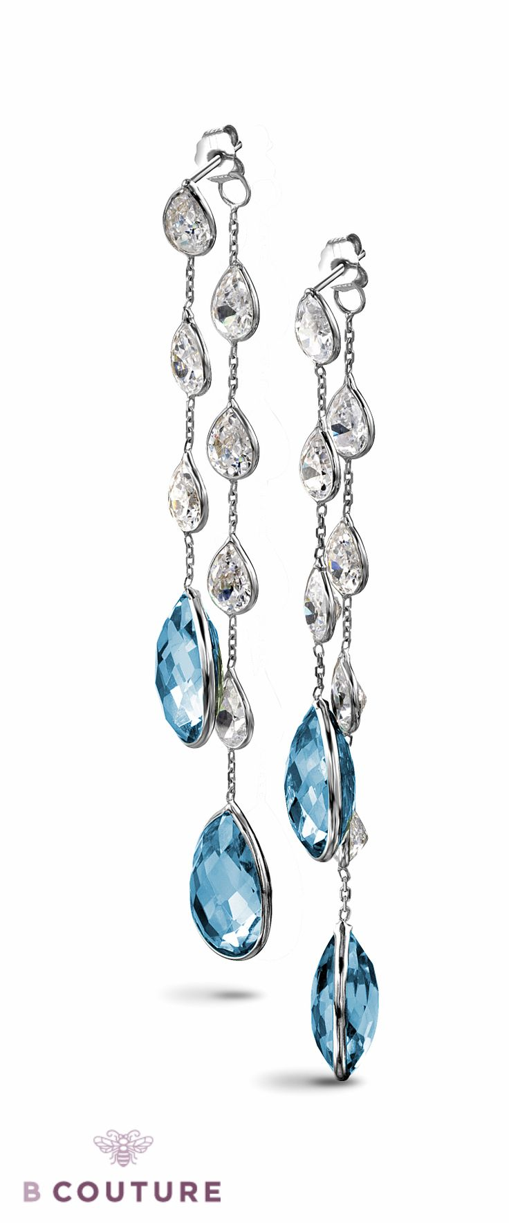 Blue Topaz earrings by Bcouture #jewellery #topaz #earring http://bcouture.ca/jewellery?utm_source=Pintrest&utm_medium=pin&utm_campaign=blue-topaz