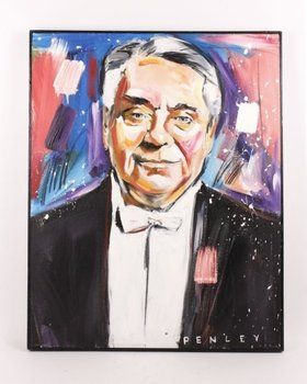 "Steve Penley, ""Portrait of Robert Shaw"" Painting 