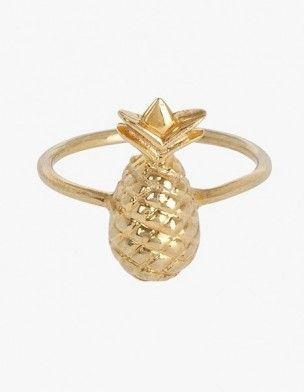 Bague ananas Julia Monteiro de Carvalho #pineapple #ananas #fashion