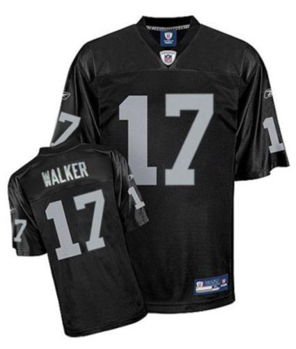 Reebok Oakland Raiders Wes Welker 17 Black Authentic Jerseys Sale