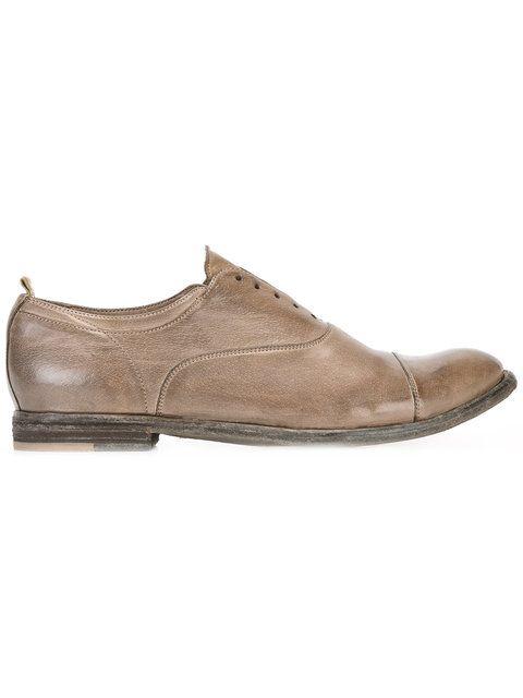 Shop Officine Creative Ignis laceless Oxford shoes .