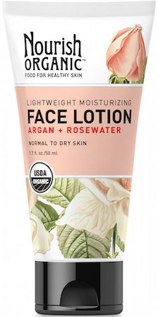 Nourish Organic Face Lotion with Argan + Rosewater