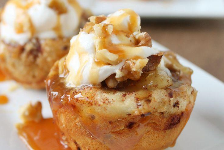 Appeltaart Cupcakes. Lekkere kleine snacks, eenvoudig te maken! Smullen! Veel kookplezier!