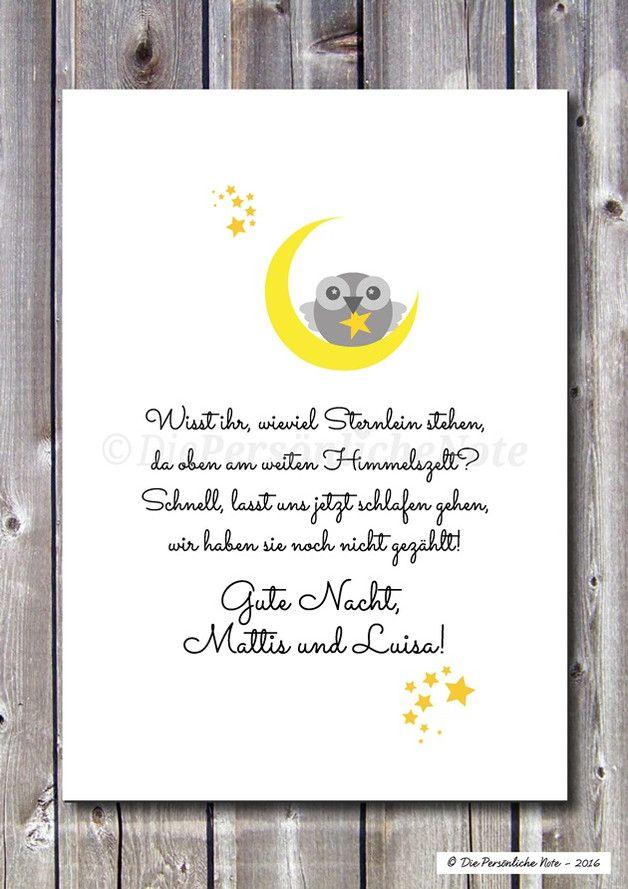 Lovely Druck Print Vers f r Kinderzimmer Sterne z hlen