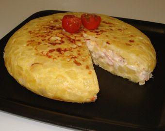 Resultado de imagen para tortilla de papas sin huevos rellena de queso