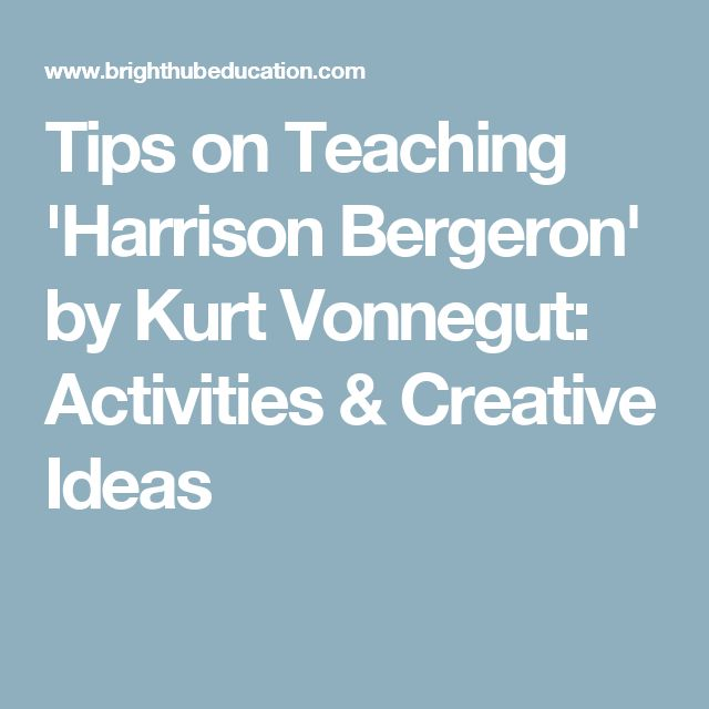 an analysis of the feminist criticism in harrison bergeron by vonnegut