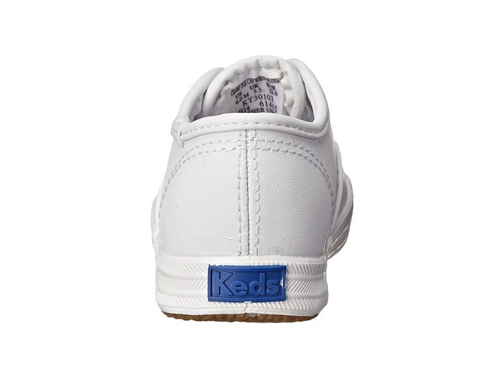 Keds Kids Champion Lace Toe Cap 2 (Toddler) Girls Shoes White Leather