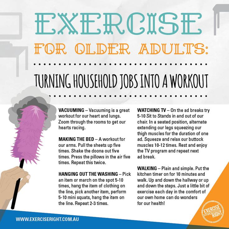 Exercise for Older Adults: Turning Household Jobs Into a Workout #Exercise #ExerciseforOlderAdults #ExerciseforSeniors #ExerciseTips #HouseholdWorkout #exerciseright #SpringCleanYourRoutine #Ageing #ExercisePhysiology