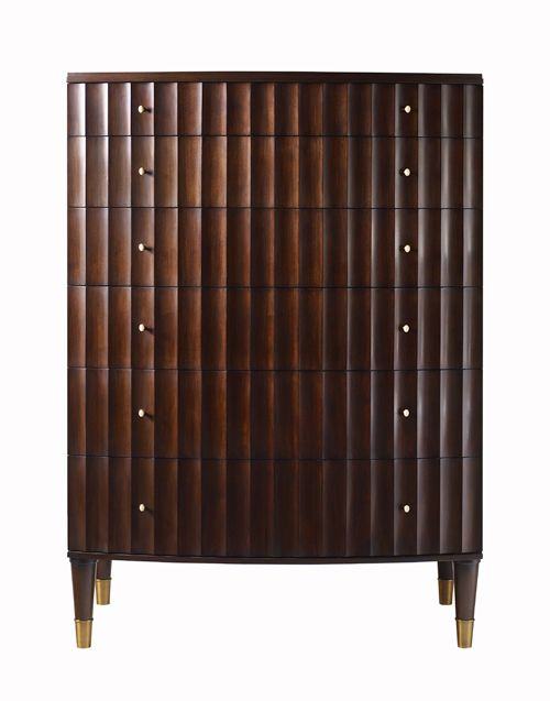 Love the lines in the wood rich looking barbara for Barbara barry bedroom furniture