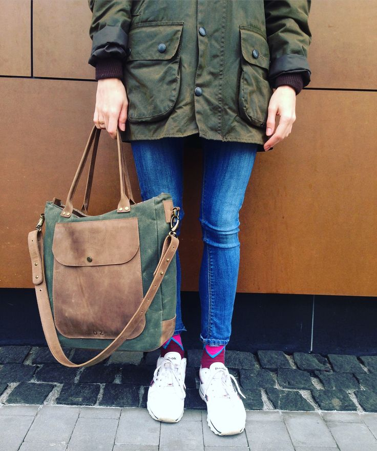 Bag waxed leather