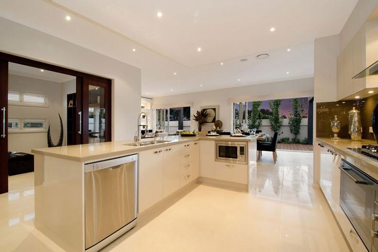 Beautiful gourmet kitchen and family living area. #kitchens #mcdonald jones #australia  #design #luxuryhome #architecture