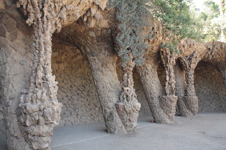 Park Guell #Barcelona - we've walked through this oh-so-unusual spot.