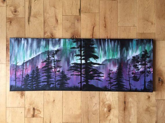 A Night With the Northern Lights  Original Acrylic by KristiBonham