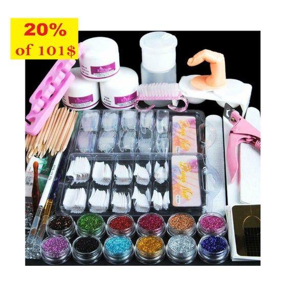 Odorless Acrylic Kit By Beauty Secrets Acrylic Nail Kits In 2021 Acrylic Nail Kit Nail Kit Beauty Secrets