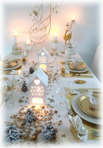 Belle d co de table no l pinterest sweet home belle et tables - Table de fete decoration noel ...