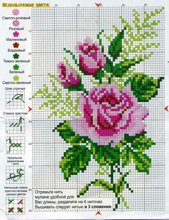 Gallery.ru / Фото #1 - разные цветочные схемы - irisha-ira