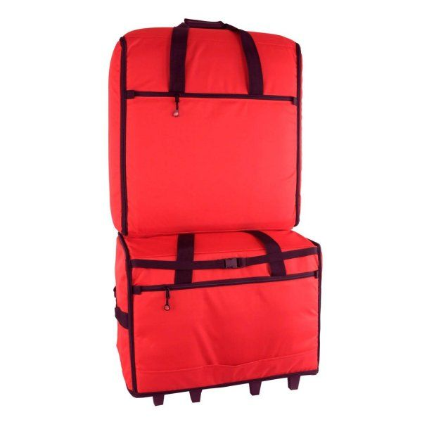 Blue fig roller bag XL EMB23 Red and TB23IM Red combo