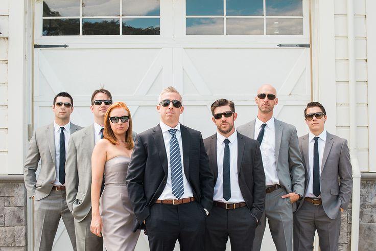 groomswoman, creative groomsmen photo, wedding party photo, wedding party pose