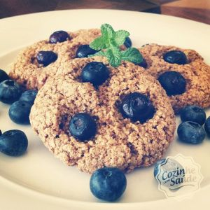cookies de aveia e blueberry (mirtilo)