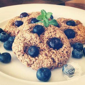 cookies de aveia e blueberry (mirtilo)