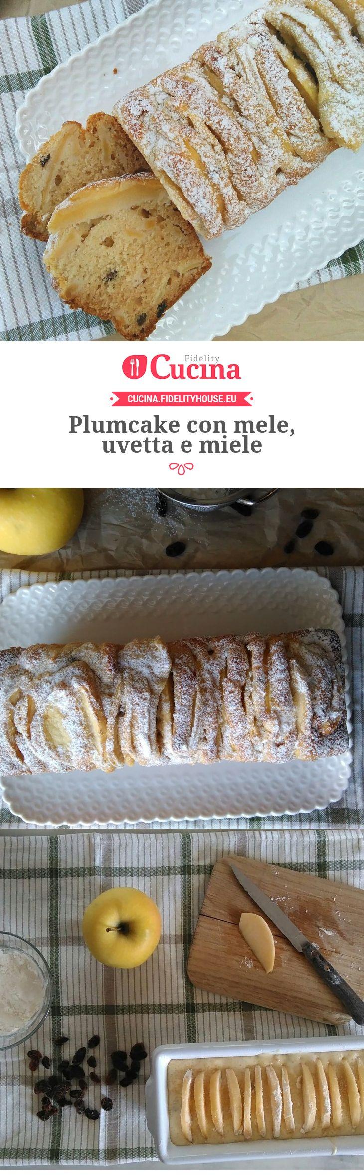 Plumcake con mele, uvetta e miele della nostra utente Francesca. Unisciti alla nostra Community ed invia le tue ricette!