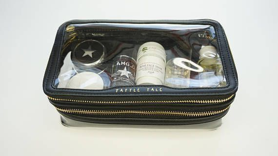 """TATTLE TALE CLEAR MAKEUP ORGANIZER BAG (High Quality) Style : To the Moon Size : 10"""" x 6"""" x 4"""" Main Materials : Clear plastic & Soft PU leather A soft clear makeup organizer bag for beauty items. 2 compartments to store makeup and small items separately. Durable metal zipper. #plasticmakeuporganizer #clearmakeuporganizer"""