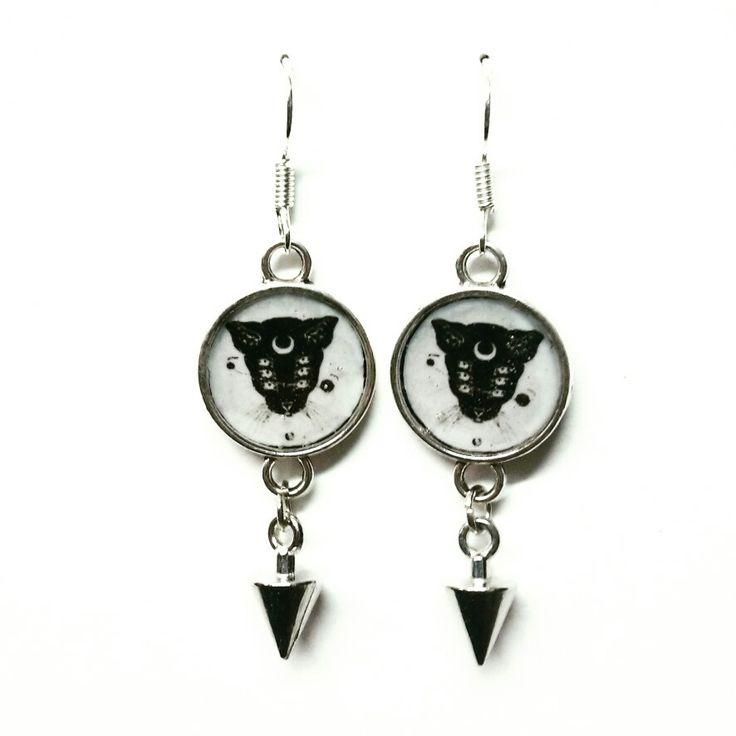 #orecchini #earrings  #cat #cats #catblack #bijoux #jewerly #handmadeinlove #handmade #madewithlove #cameo #woman
